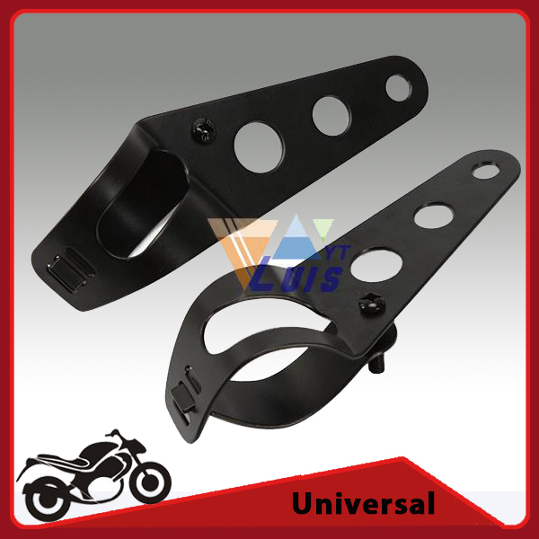35~43mm Motorcycle Motorbike Headlight Mounting Bracket Black Head Lamp Holder Fork Chopper Bobber Cafe Racer(China (Mainland))