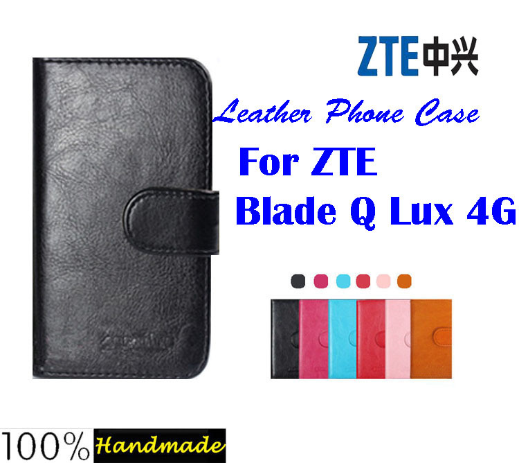 ZTE Blade Q Lux 4G Case,High Quality Filp Leather Phone Cover Case for ZTE Blade Q Lux 4G Phone Case 6 Colors Free shipping(China (Mainland))