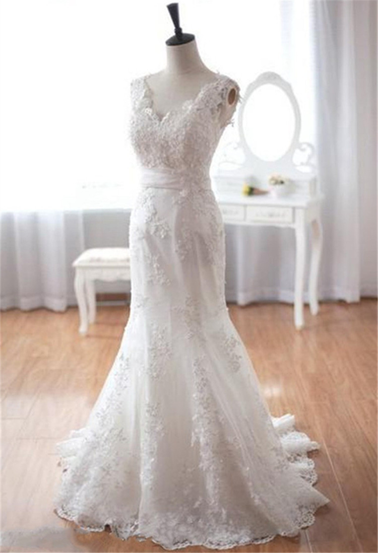 Lace beading wedding dress new arrival 2015 lace beads for Wedding dresses with beading and lace