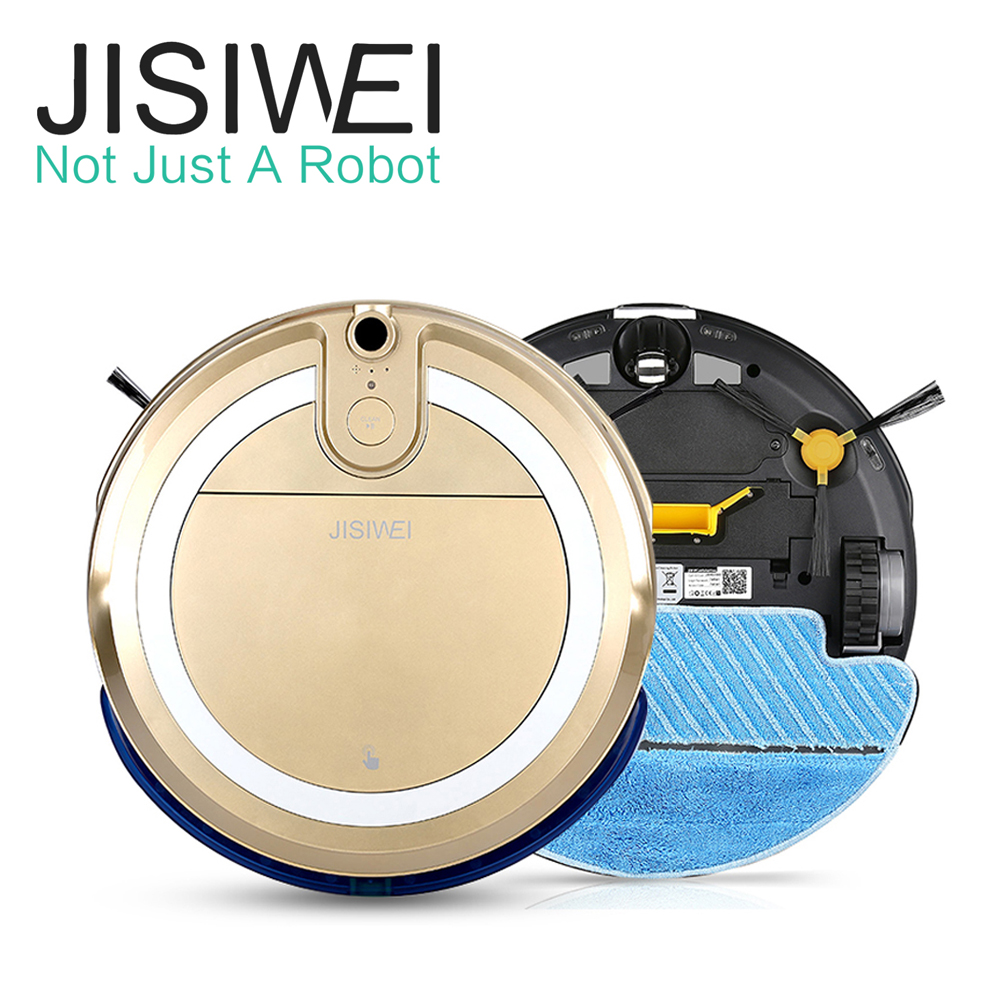 JISIWEI i3 Vacuum Cleaning Robot with HD Camera Wifi APP Remote Control EU US Warehouse Auto Cleaner Robotic Floor Sweeper(China (Mainland))