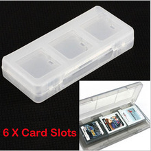 6in1 Clear Protective Hard Plastic Game Cards Storage Box Case Holder for Nintendo NDS NDSL NDSI 3DS LL/XL 3DSXL/LL