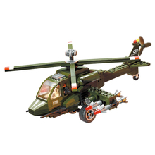 Building Blocks Military Helicopter DIY Assembling Toys for Children Birthday Gift 275pcs 818