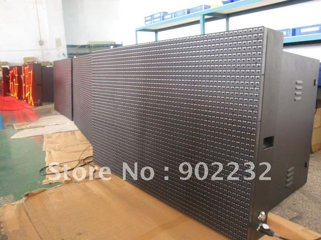 p20mm,outdoor led tricolor display,waterproof led panels,mall,supermarket led advertising display,red-color display