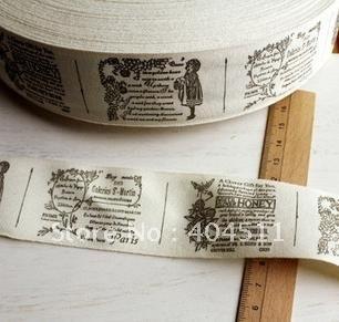 Cotton Ribbon Sewing Label 10 meter- Poem Girl