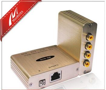 Quad Composite Video Balun video Transmission server multiplexer splitter converter support NTSC, PAL, SECAM Video QVB(China (Mainland))