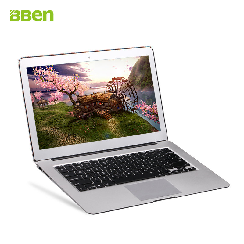 Bben 13.3 inch i7 dual core cpu laptop netbook ultrabook 2gb 32gb gold sliver color option windows 10 system(China (Mainland))