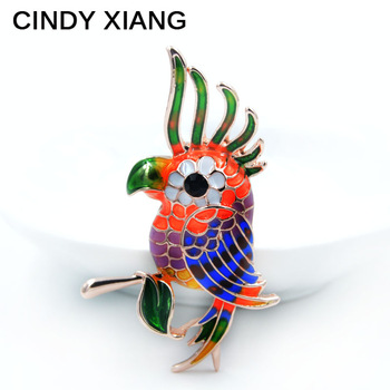New 2017 Spring Style Cute Enamel Colorful Parrot Brooches For Women Fashion Design Cute Animal Brooch Pin