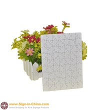 "20pcs / pack 11"" x 7.25"" White Rectangle Blank Sublimation Jigsaw Puzzle Child Toy Heat Transfer(China (Mainland))"