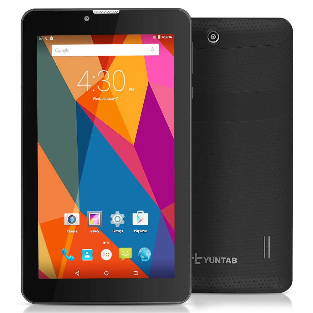 Yuntab 7 inch 3G Unlocked Smartphone Tablet PC Android 5.1 MTK8321 1.3 GHz Quad Core IPS 1024*600 Google Tablet GPS Bluetooth(China (Mainland))