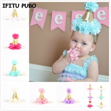1 year baby first Birthday Party Hats caps Digital Age one Cupcake Toppers kids birthday party decoration cap hat GYH(China (Mainland))