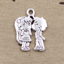 Buy 5pcs Charms lover sweethearts kissing 31*23mm Antique pendant fit,Vintage Tibetan Silver,DIY bracelet necklace for $2.20 in AliExpress store
