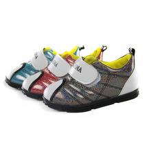 2015 New Arrival Children Shoes For Boys & Girls Mesh Sports Sneakers Soft Bottom Blue For Little Kids Waterproof LittleBoyShoes