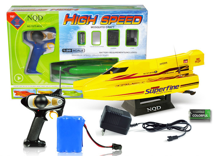 30cm Remote Control Speed Boat Toy With 700mah 2m/S 50meters Rc Boats Electric Toys For Children A2023025(China (Mainland))