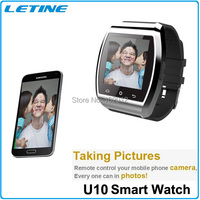 2015 Bluetooth Wristwatch Clock Smartwatch U10 Pro for 4/4S/5/5S Samsung S4/Note 3 HTC Android Phone Smartphones Free shipping