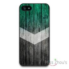 Arrow On Green Wood Protector back skins mobile cellphone cases for iphone 4/4s 5/5s 5c SE 6/6s plus ipod touch 4/5/6