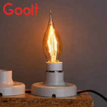 Buy Retro Candle Lamp Tailed 40W 220V Retro Edison Art Decoration Retro C35 long tail bent end Light Bulb E14 Antique lamps Bulbs for $2.36 in AliExpress store