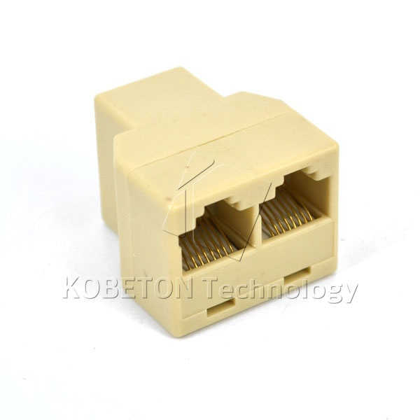 SOCKET RJ45 Splitter Connector CAT5 CAT6 LAN Ethernet Splitter Adapter 8P8C Network modular plug PC laptop cable contact switch(China (Mainland))