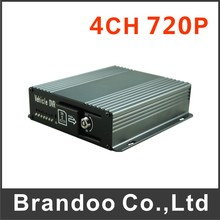 4 channel 720P SD CAR DVR, 1080X720 @ 100f/s, 128GB sd card auto recording, used for bus,taxi,school bus model BD-327