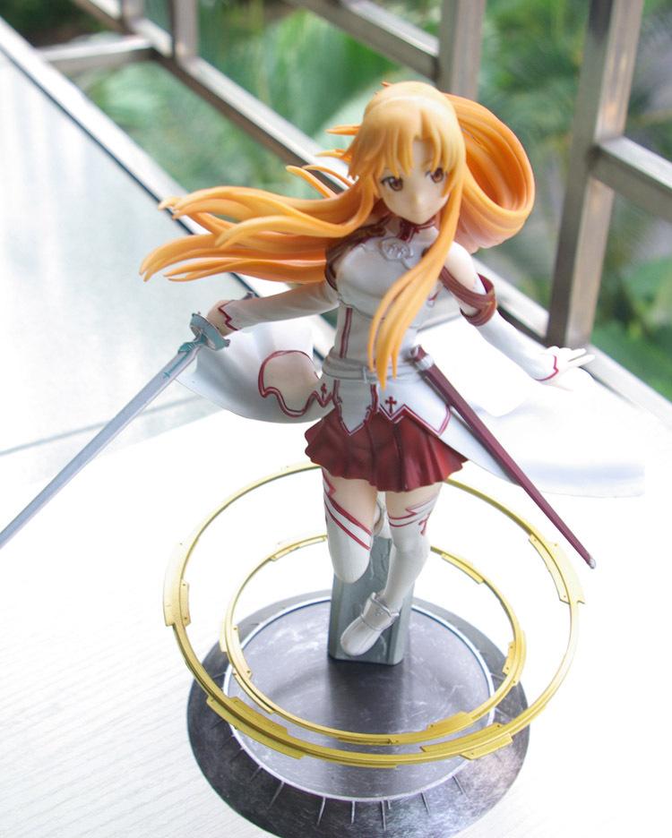Japanese Anime Sword Art Online Asuna PVC Action Figure Toy 22cm Cute Aincrad