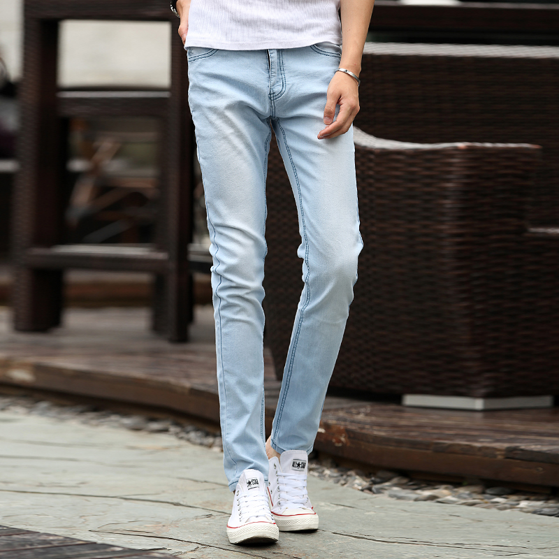 Compare Prices on Men Light Blue Skinny Jeans- Online Shopping/Buy