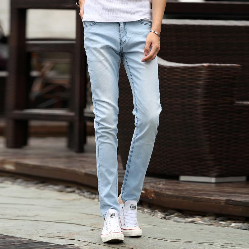 Mens Light Blue Slim Fit Jeans | Bbg Clothing
