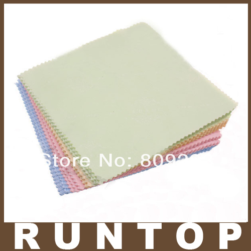 100pcs/lot Cleaning Cloth Clean Glasses TV CellPhone Laptop Camera CD DVD LCD Screen 4 Colors(China (Mainland))