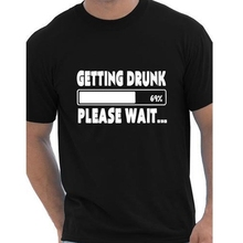 Buy Getting Drunk 69% Please Wait T-Shirts Beer Stag Party Gift Funny Mens T Shirt European Size Cotton Short Sleeve Tees Camisetas Store) for $9.99 in AliExpress store