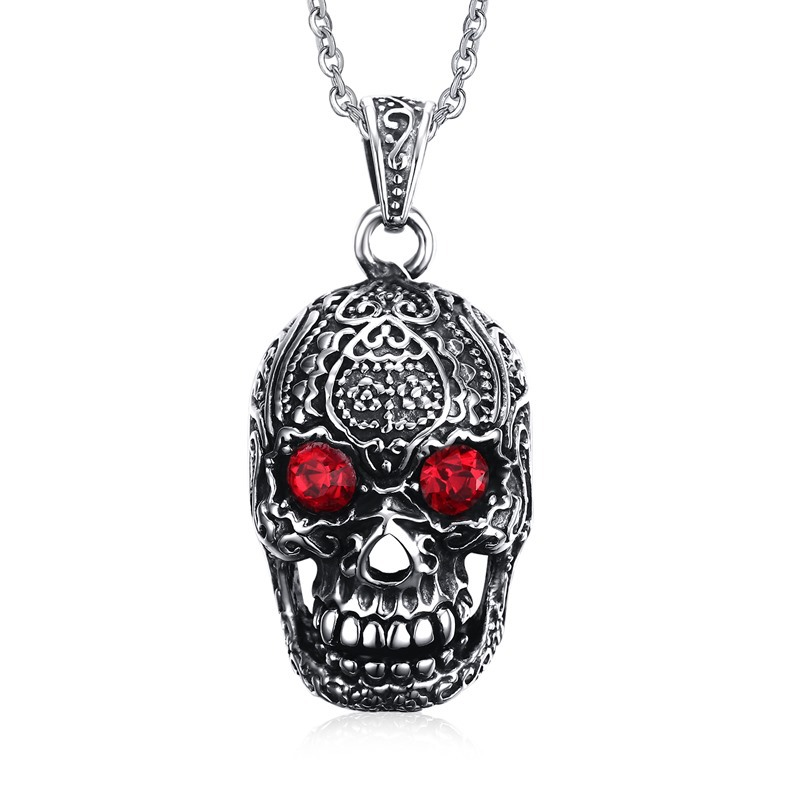 Stainless Steel Skull Men Pendant Fashion Punk Jewelry Chian pendant Necklace Best Gifts For Men Boys(China (Mainland))