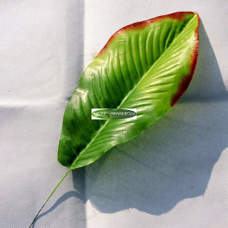 43cm 12pcs artificial banana plant tree leaf branch for Artificial banana leaves decoration