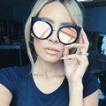 Classic Vintage Cat Eye Rose Gold Mirror Women Stylish Sunglasses Fashion Brand Designer Retro Sun Glasses