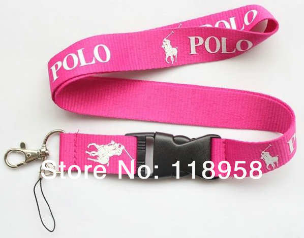 2014 special offer direct selling 120 pcs/lot s popular sports lanyard custom logo black,pink - New Technology Development Co., Ltd. store