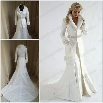 Winter Wedding Dresses with Fur