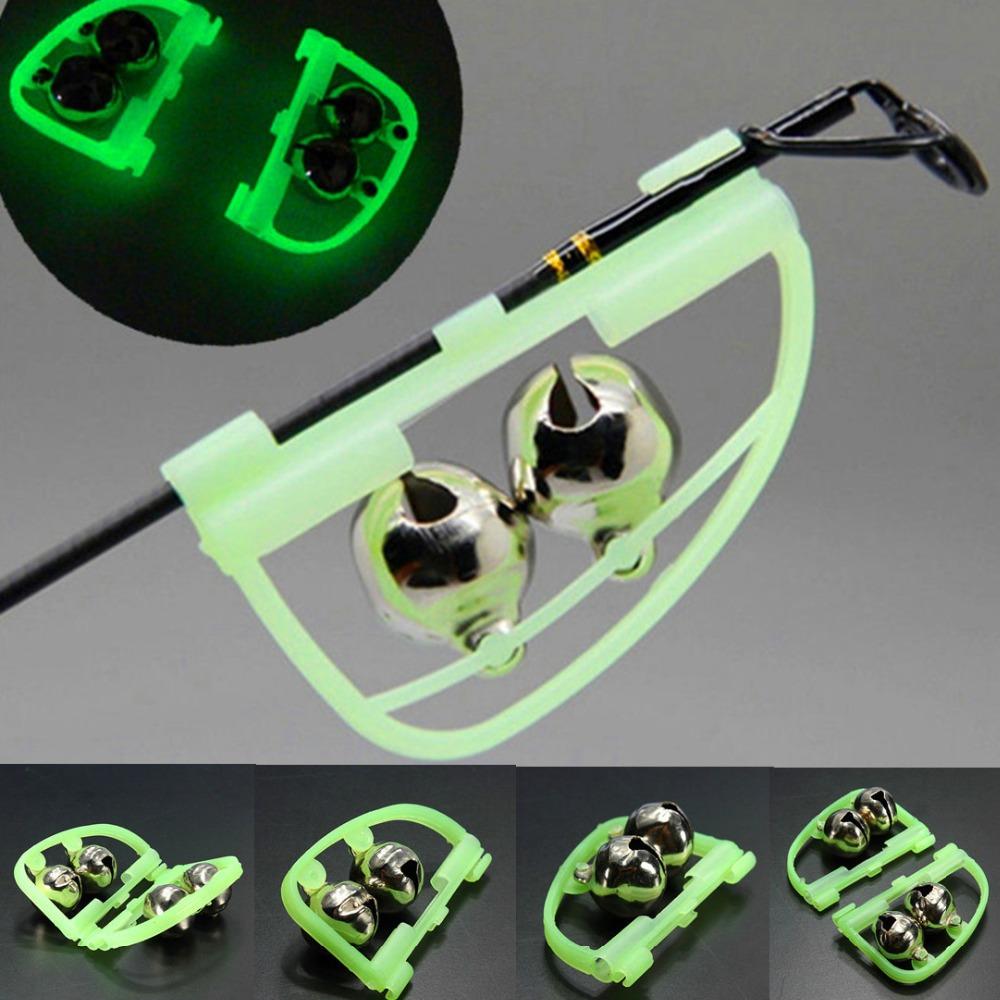 Hot selling luminous double slider sea fishing rod mounted bell night fishing bell bite alarm 6g