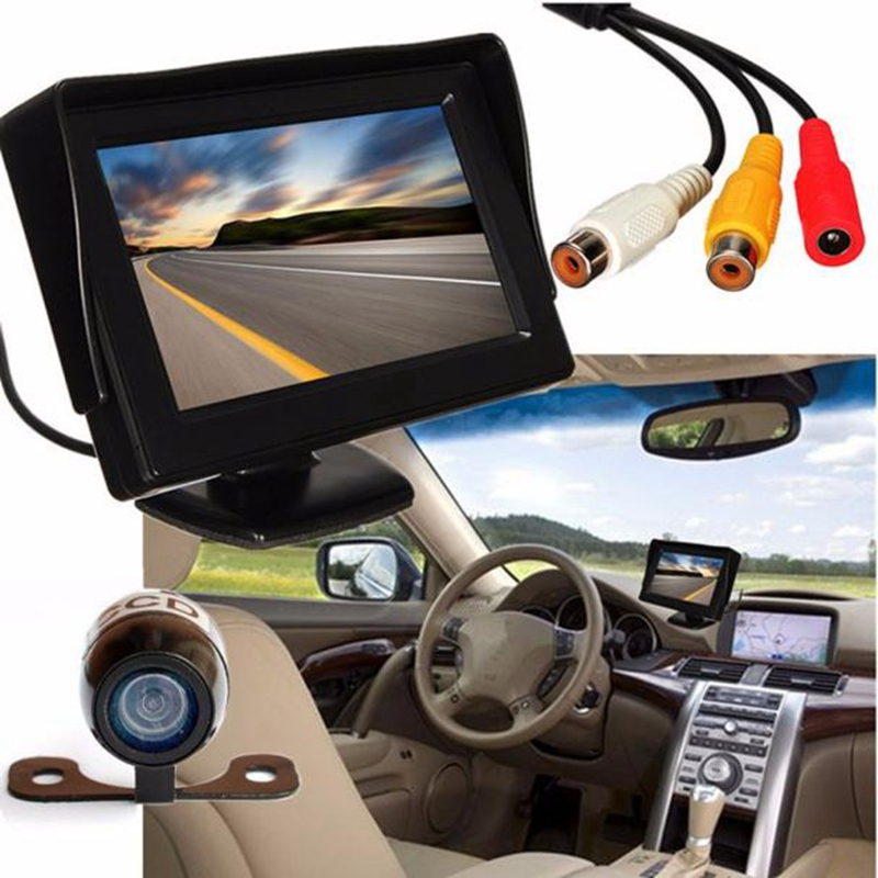 Automotive Accessories High Quality 4.3'' LCD Car Rear View Monitor Night Vision Reverse Backup Camera Waterproof @323(China (Mainland))