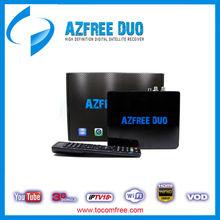 New update azbox bravissimo twin digital satellite receiver azfree duo with iptv free iks(China (Mainland))