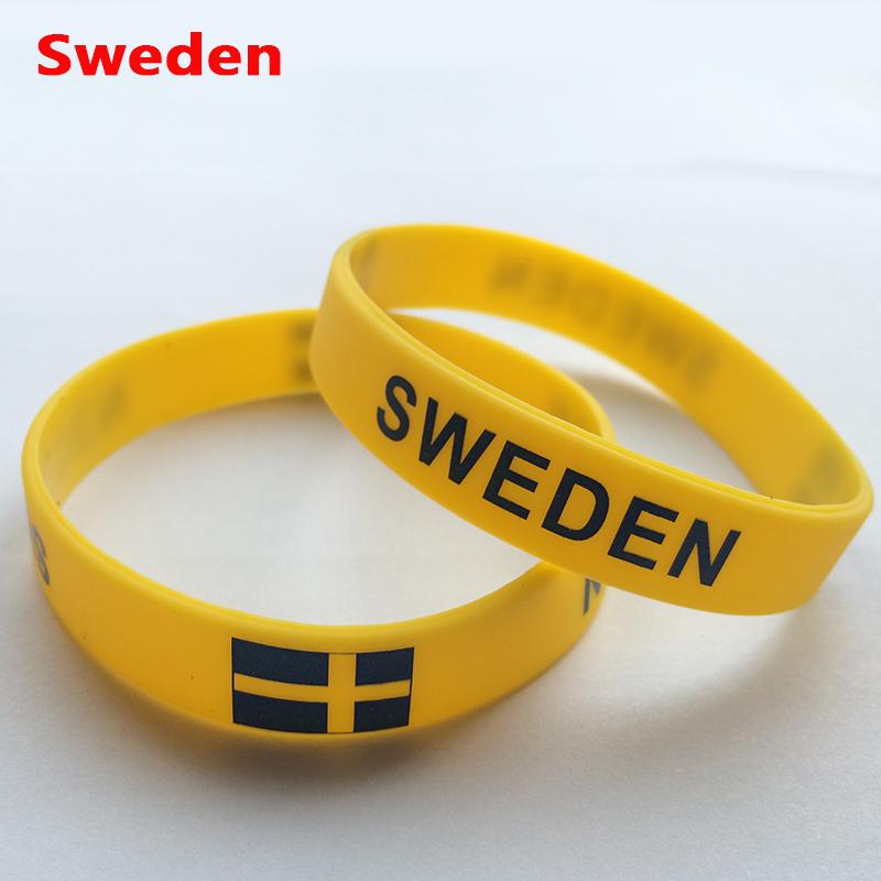 Sweden Sports Bracelet Sweden Fans Silicone Wristbands Sweden Football Basketball Baseball Cheer Supplies Souvenir(China (Mainland))