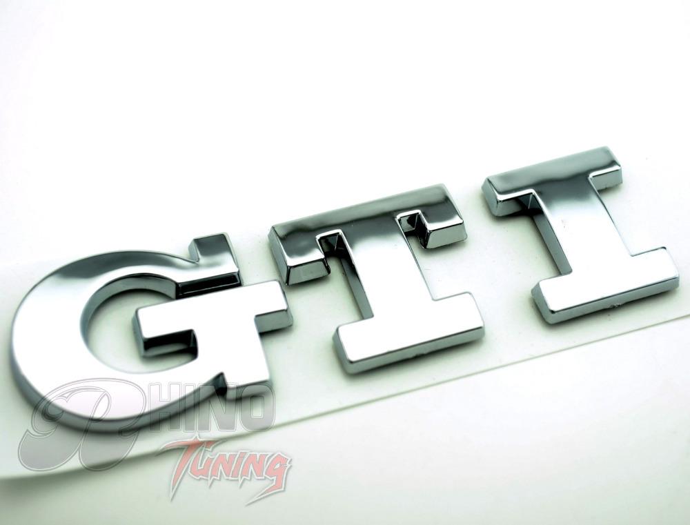 Golf GTI Car Chrome Emblem Sticker for VW Golf Polo GTI Car Rear Boot Trunk Badge 498sv(China (Mainland))
