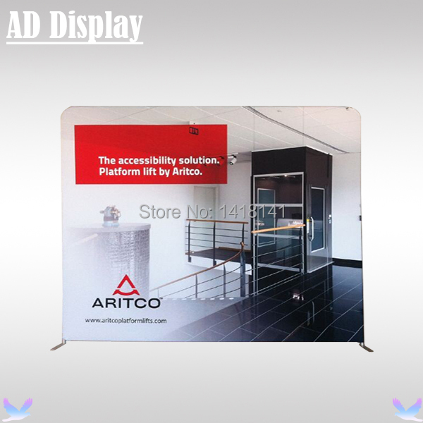 10ft*8ft Exhibition Booth Premium Single Side Banner Printing With Aluminum Stand,Portable Trade Show Fabric Backdrop Display(China (Mainland))