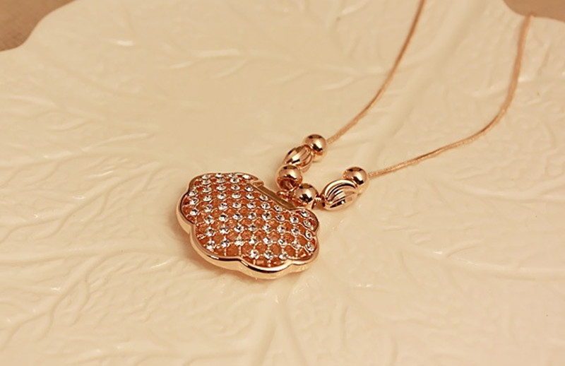 Ocean High Quality Longevity lock Necklaces Pendants Made long life healthy Crystals Gifts For women girl children(China (Mainland))