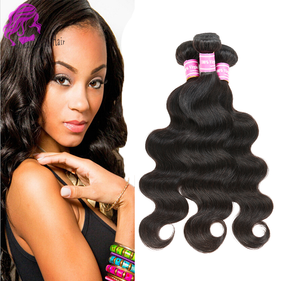 Rosa Hair Products Brazilian Virgin Hair Body Wave Wet and Wavy Weave Brazilian Human Hair Extensions UK 3pcs Length 8-30 Inches<br><br>Aliexpress