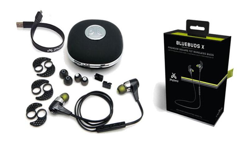 JAYBIRD BLUEBUDS X Wireless Bluetooth Headphone Stereo Sports Running Earphone Handsfree headsets With Mic Black& White(China (Mainland))