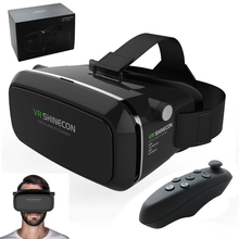 Original VR Shinecon Virtual Reality 3D Glasses Google Cardboard 2.0 VR Headset Helmet 3D VR Box Glasses For 3.5~6 Smart phone(China (Mainland))