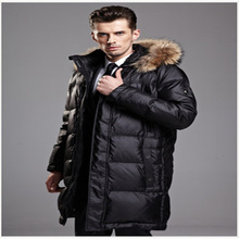 Winter Men's Quality Down Jacket High-end Brand Business Men's Long Design Down Jacket(China (Mainland))