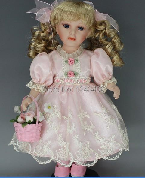 Hot New 12 Inch Porcelain Dolls Home Decoration Girl Gift