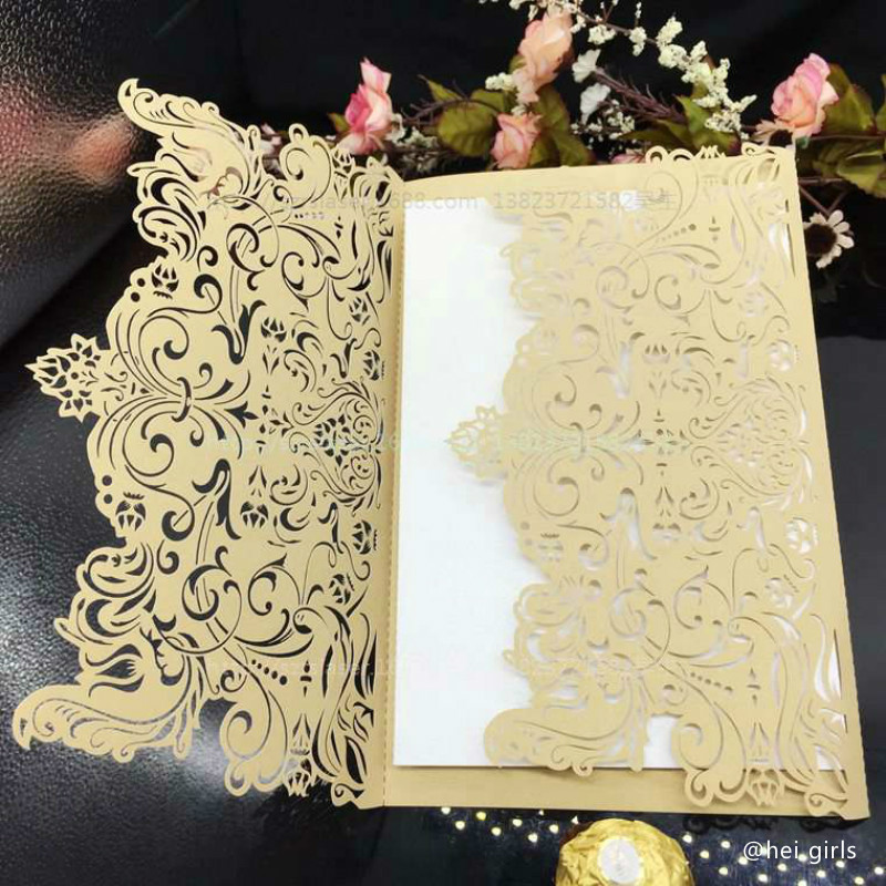 30pcs/set Hollow Wedding Invitations 2016 Romantic Laser Wedding Decoration Supplies Business/Party/Birthday Invitations 6ZCD032(China (Mainland))