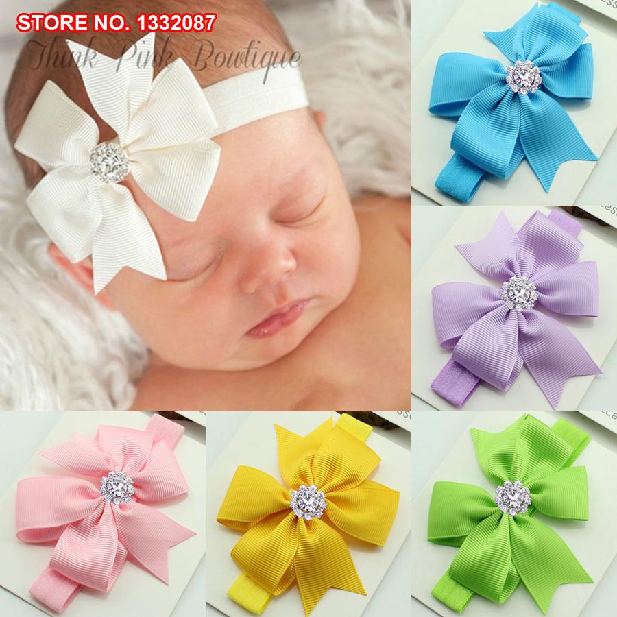 Free Shipping Retail Children Baby Girls Fahsion Rainbow Loom Imitation Crystal Flower Frozen Headwear Hair Accessories Headband(China (Mainland))