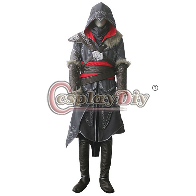 Assassins Creed Revelations Ezio Auditore da Firenze Cosplay Costume Halloween Outfit Custom Made Одежда и ак�е��уары<br><br><br>Aliexpress