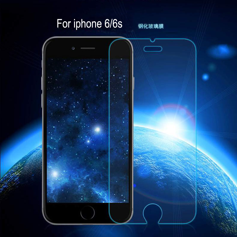 For iphone 6 / 6s tempered glass screen protector clear Matte privacy blue anti UV 9H anti-burst glass protective film + package(China (Mainland))
