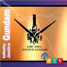 Japanese Cartoon Fans SEED JUSTICE GUNDAM GMF-X09A Vinyl Wall Stickers Decal Decor Home Decorative Decoration