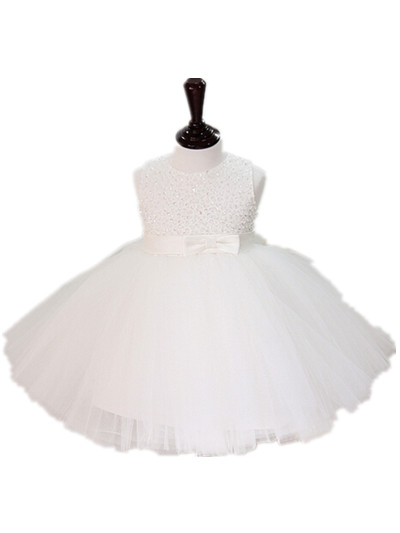 Newborn Baby Girl White/Ivory Christening Gowns Christmas Dress 1 Year Birthday Party,Flower Girls Outfit Weddings 7074